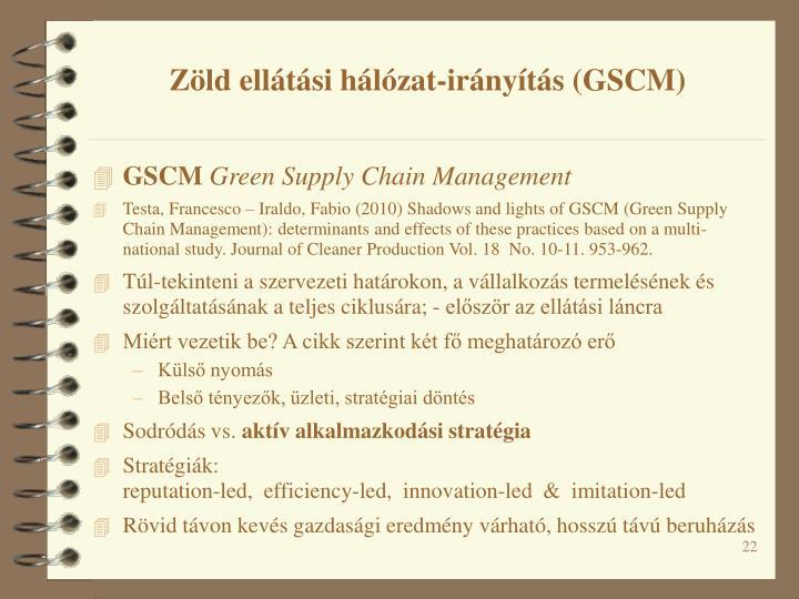 Zöld ellátási hálózat-irányítás (GSCM)