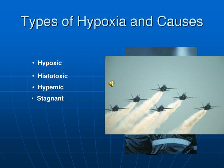 Types of Hypoxia and Causes