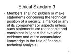 ethical standard 3
