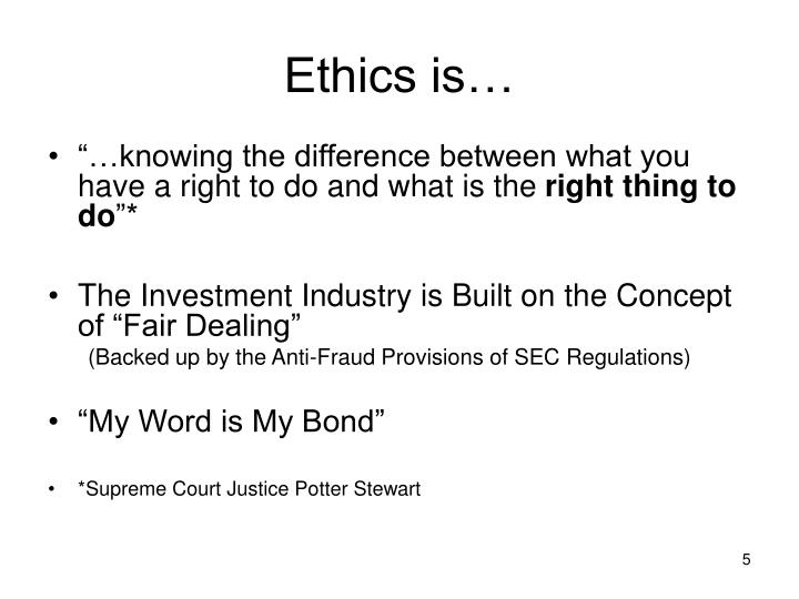 Ethics is…