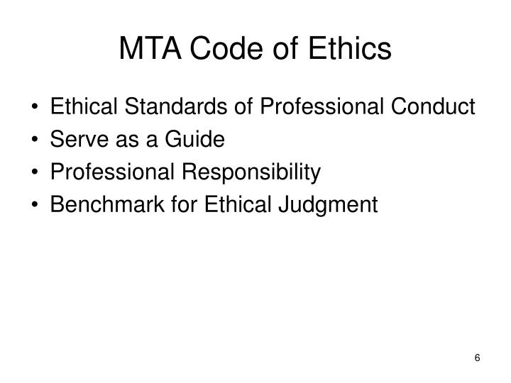 MTA Code of Ethics
