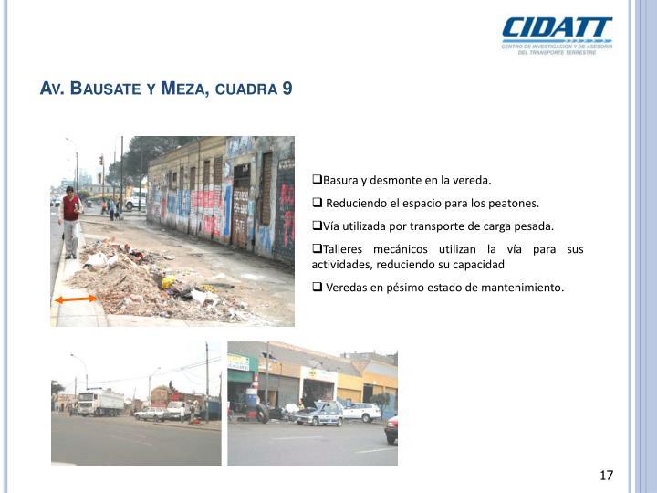 Av. Bausate y Meza, cuadra 9