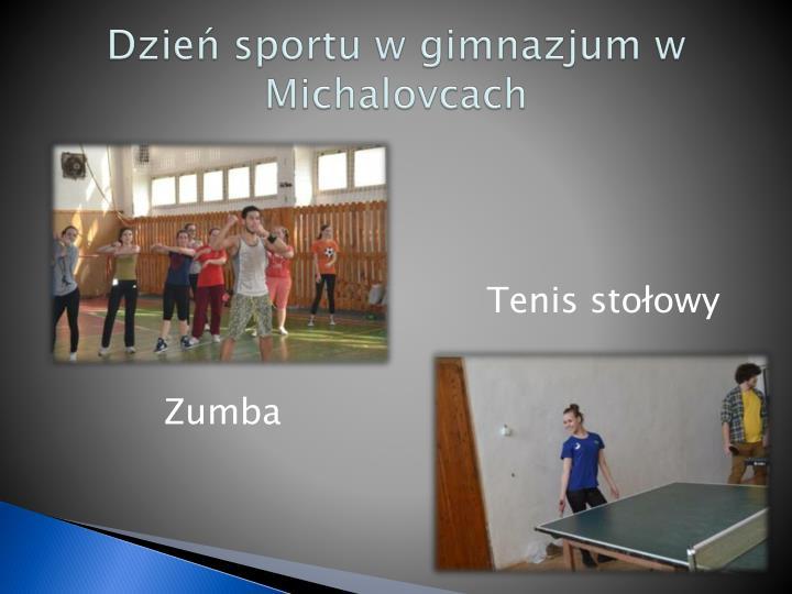 Dzień sportu w gimnazjum w
