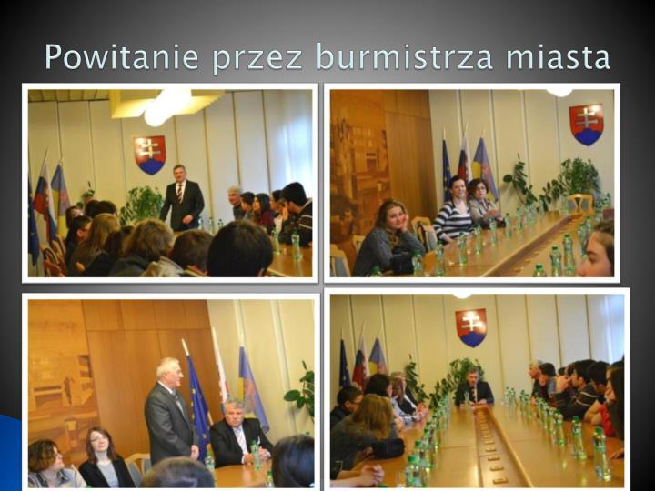 Powitanie przez burmistrza miasta