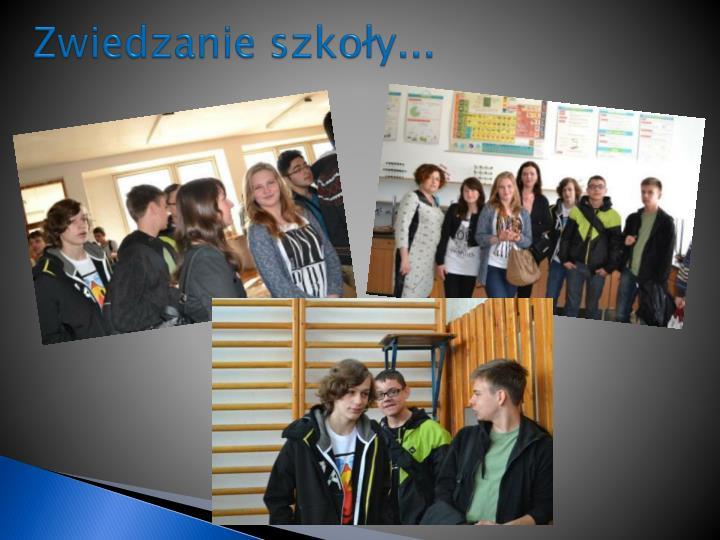 Zwiedzanie szkoły...