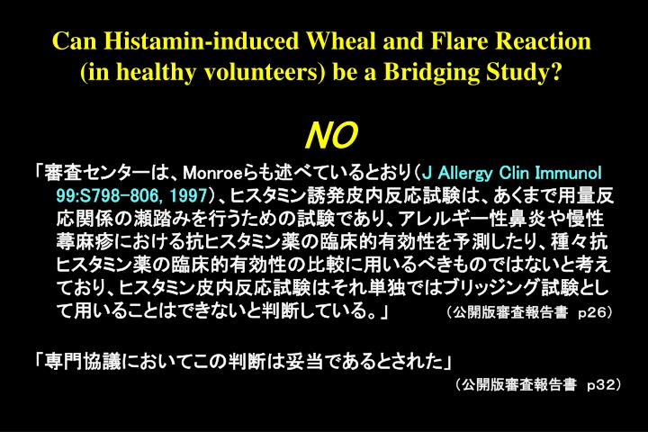Can Histamin-induced Wheal and Flare Reaction