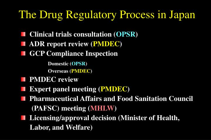 The Drug Regulatory Process in Japan