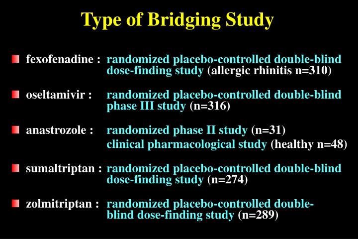 Type of Bridging Study