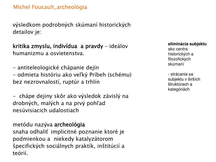 Michel Foucault_archeológia