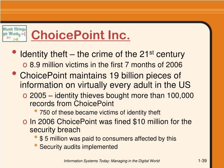ChoicePoint Inc.