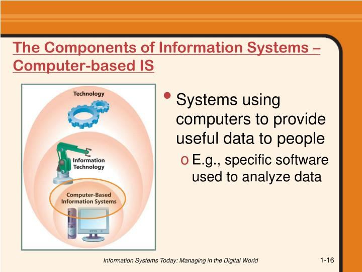 The Components of Information Systems – Computer-based IS