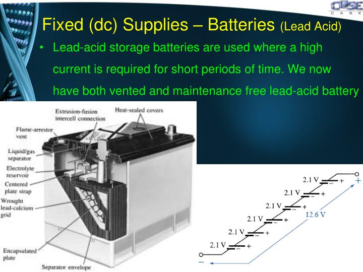 Fixed (dc) Supplies – Batteries