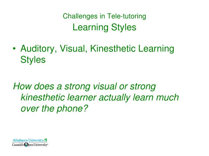 Challenges in Tele-tutoring