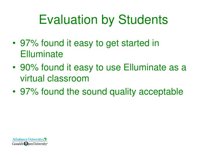 Evaluation by Students