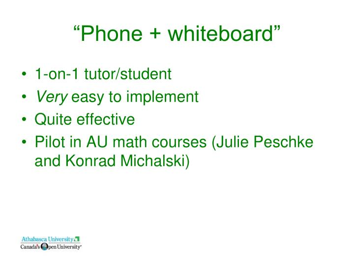 """Phone + whiteboard"""