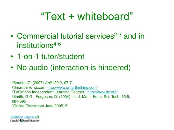 """Text + whiteboard"""