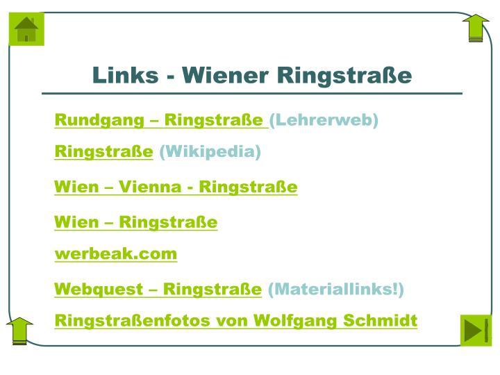 Links - Wiener Ringstraße