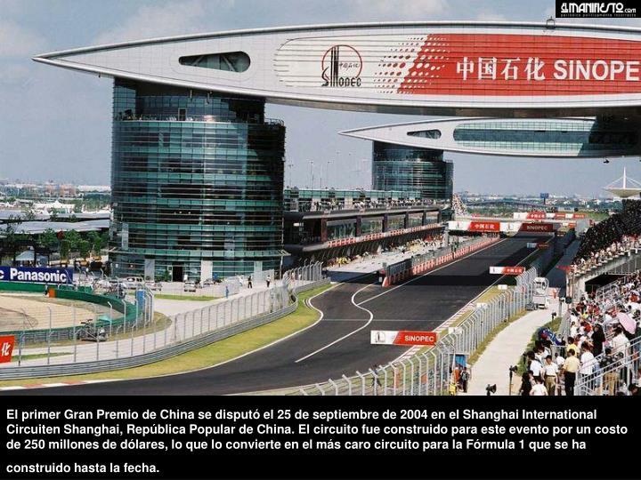 El primer Gran Premio de China se di