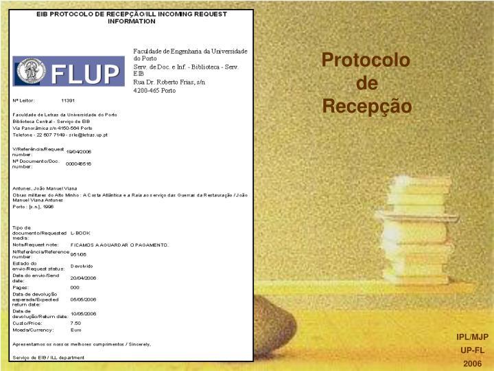 Protocolo de Recepção