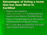 advantages of listing a home that has been move in certified2
