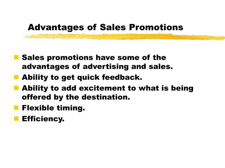 Advantages of Sales Promotions