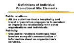 definitions of individual promotional mix elements2