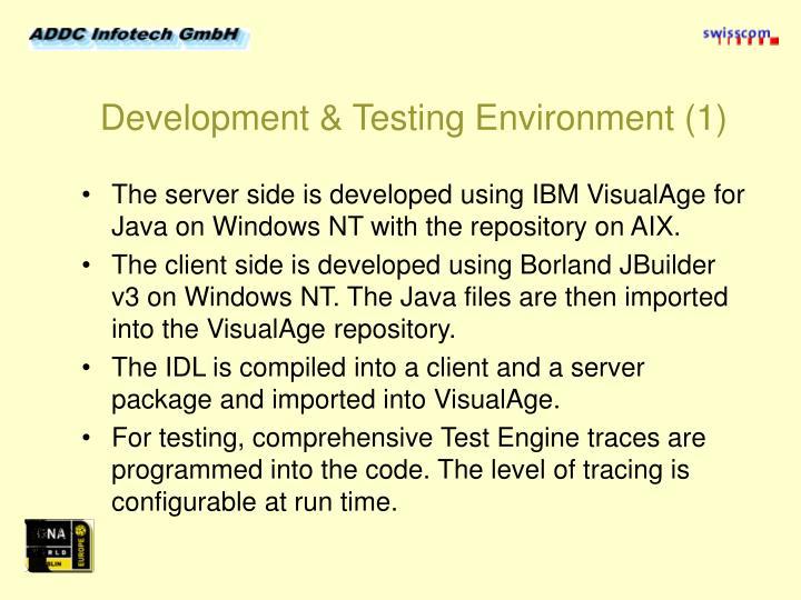 Development & Testing Environment (1)