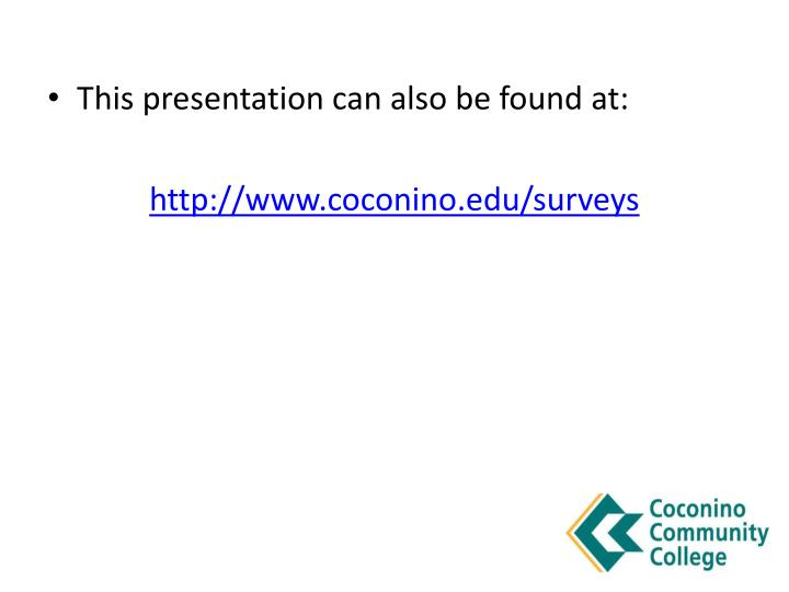 This presentation can also be found at: