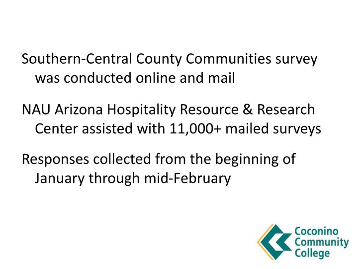 Southern-Central County Communities survey was conducted online and mail