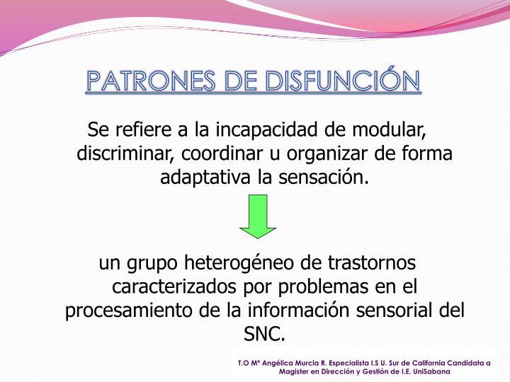 PATRONES DE DISFUNCIÓN