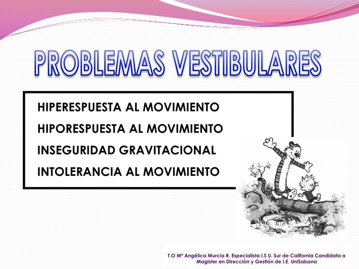 PROBLEMAS VESTIBULARES