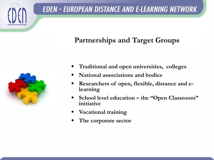 Partnerships and Target Groups