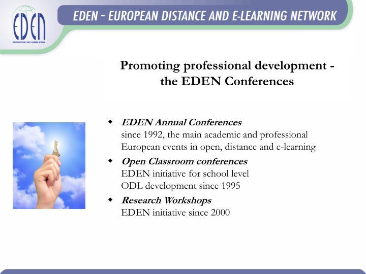 Promoting professional development -