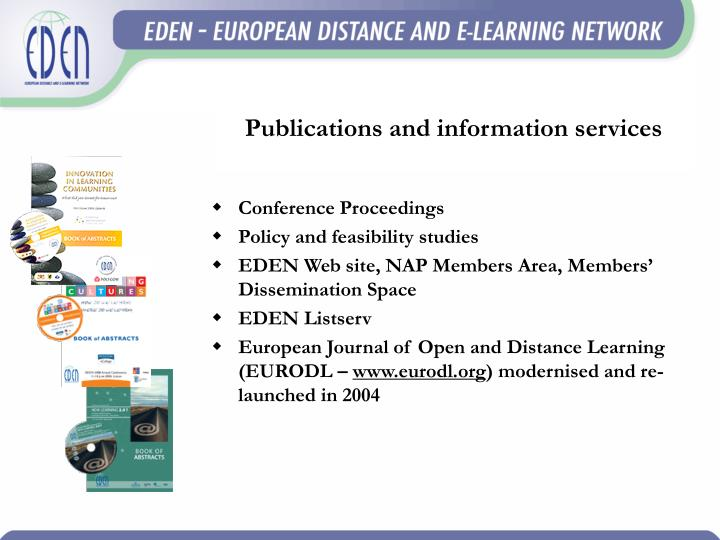 Publications and information services