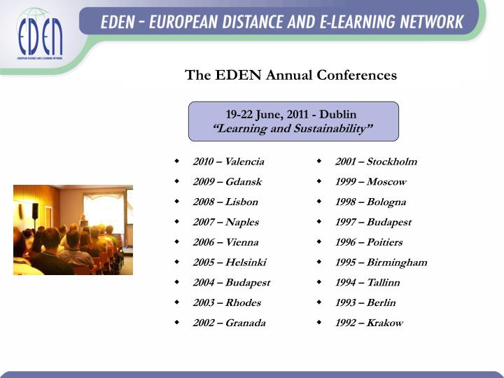 The EDEN Annual Conferences
