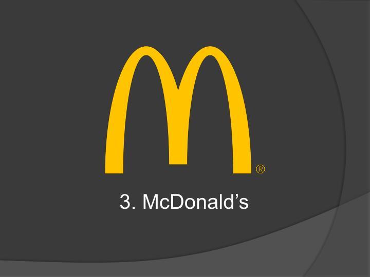 3. McDonald's