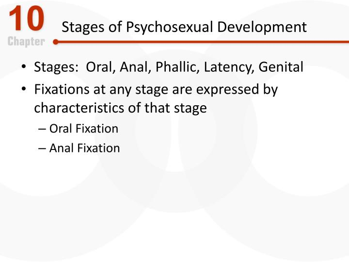 Oral anal phallic latency genital