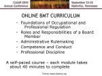 online bmt curriculum
