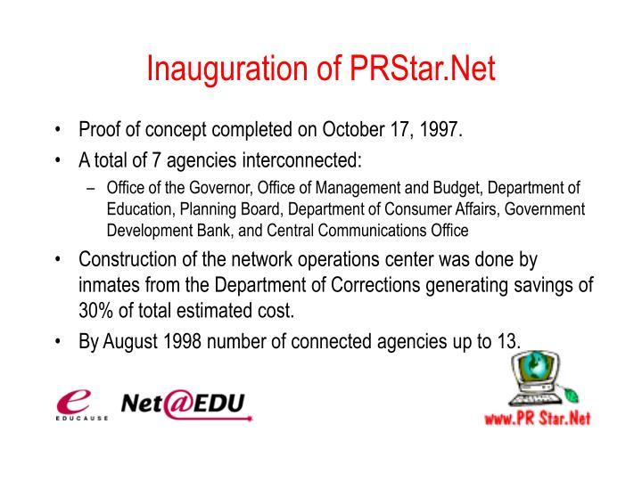 Inauguration of PRStar.Net