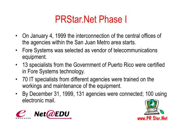 PRStar.Net Phase I