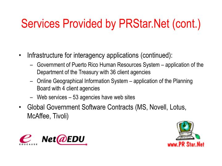 Services Provided by PRStar.Net (cont.)