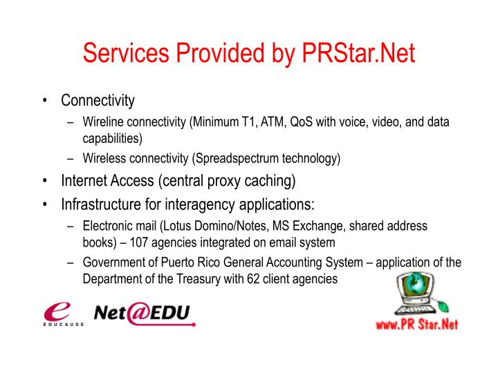 Services Provided by PRStar.Net