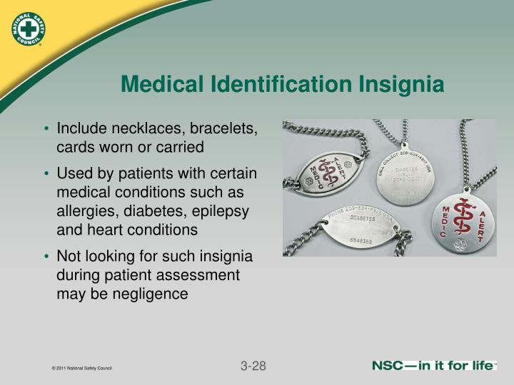 Medical Identification Insignia