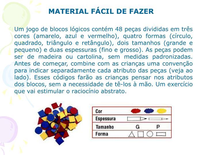 MATERIAL FÁCIL DE FAZER