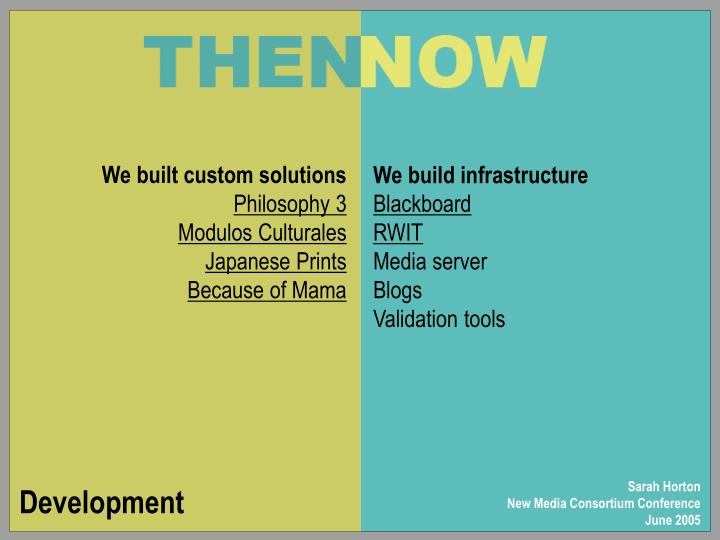 We built custom solutions