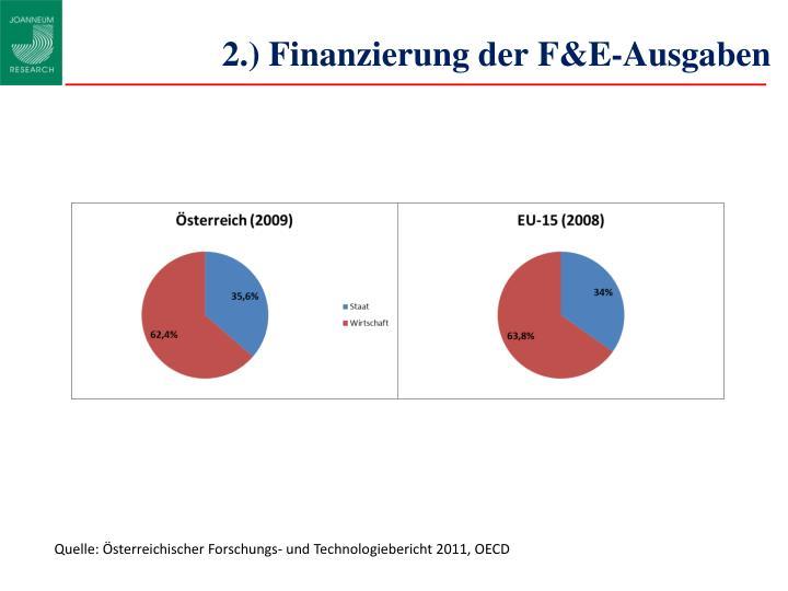 2.) Finanzierung der F&E-Ausgaben