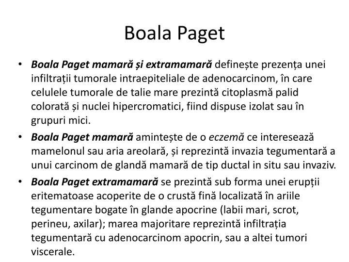 Boala Paget