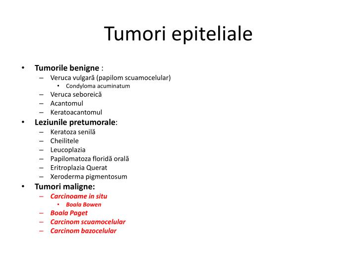 Tumori epiteliale