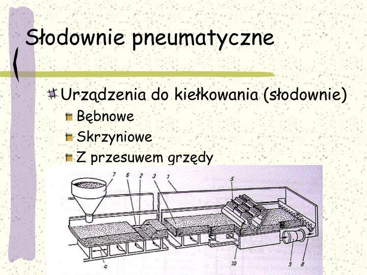Słodownie pneumatyczne