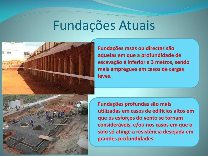 Fundações Atuais